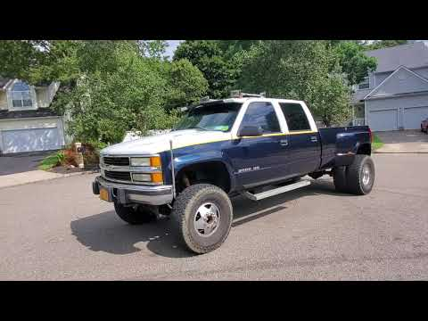 $10,995 - One Owner 1998 Chevrolet Silverado SLE 4x4 3500 Dually Diesel For Sale