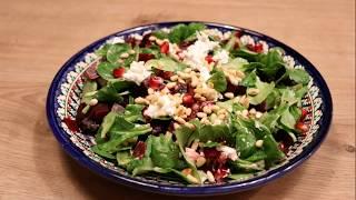 Свекольный салат с гранатом и козьим сыром ну ооооооочень вкусно