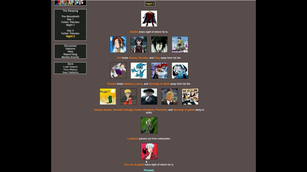 Brantsteele Hunger Games Simulation - Trump vs Anime