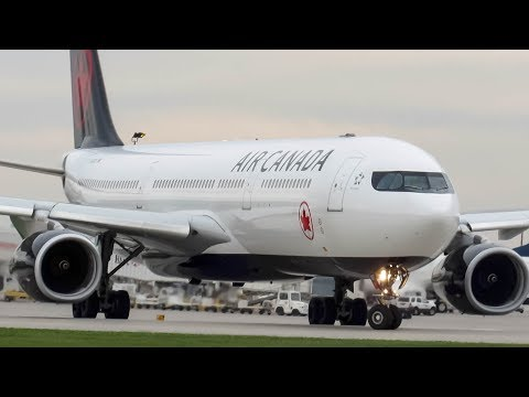 """Air Canada Airbus A330-300 (A333) """"New Livery"""" landing & departing Montreal (YUL/CYUL)"""