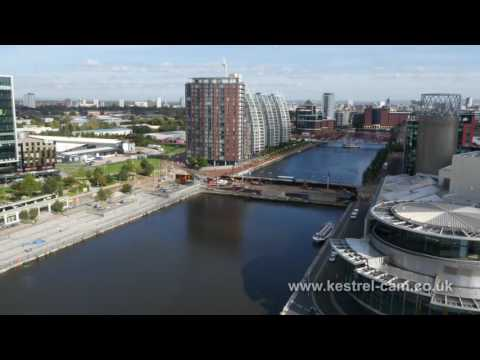 Salford Quays and Media City Aerial Drone Footage