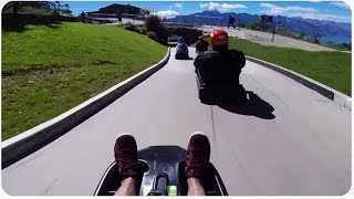 Queenstown Luge Run in New Zealand POV