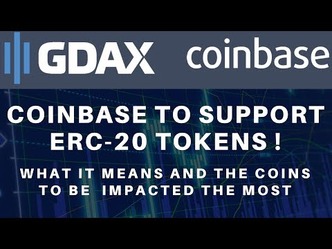 Coinbase to Support ERC-20!  Quick Update on BTC, ICX, BNB & TRX