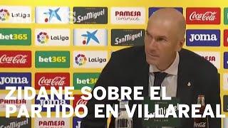 El técnico del Real Madrid, Zinedine Zidane, habla del partido ante el Villareal
