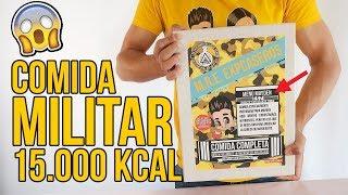 Probando COMIDA DE SUPERVIVIENCIA MILITAR CASERA (15.000kcal)