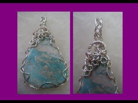 Easy Wire Wrap Pendant - 2 Wire Braid | Liz Kreate