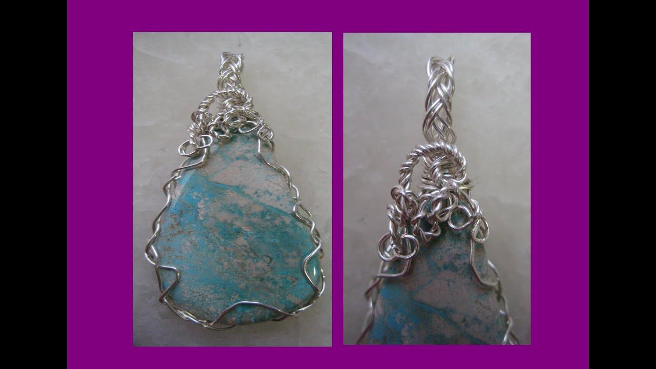 TUTORIAL Easy Wire Wrap Pendant - 2 Wire Braid | Liz Kreate - YouTube