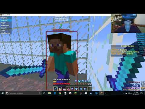 hacking in vr minecraft with vr headset