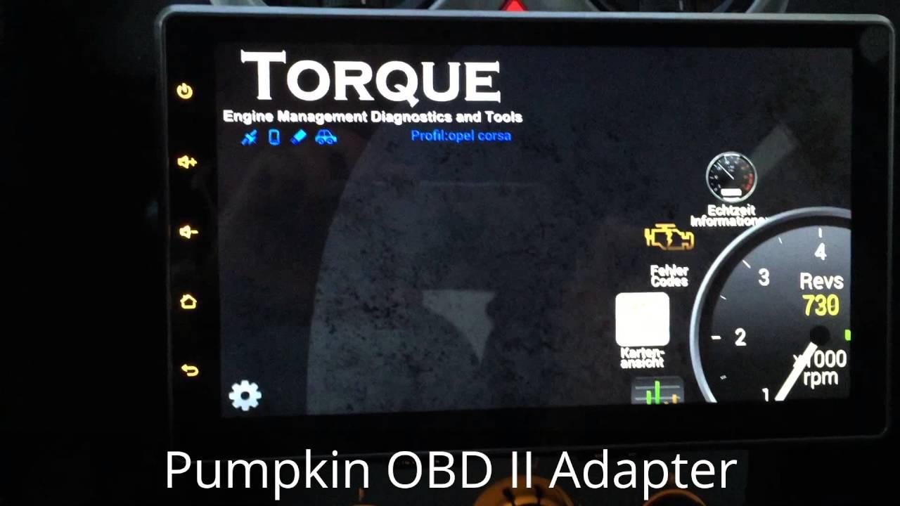 Pumpkin mit OBD II Adapter * Torque Pro