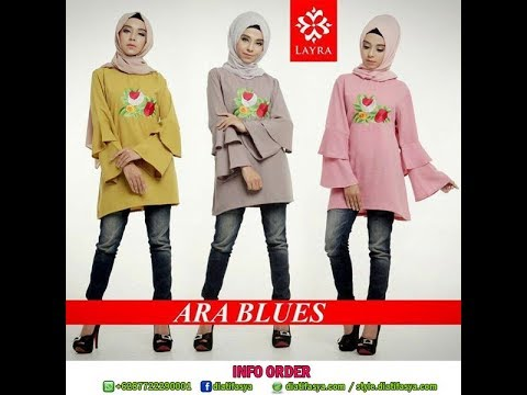 Atasan Baju Muslim Model Blouse Untuk Hijaber Remaja Dewasa