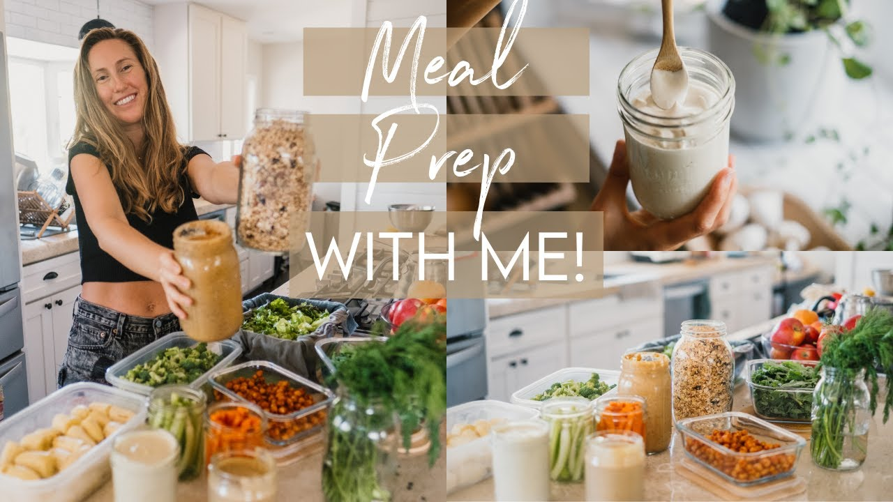 EASY & HEALTHY VEGAN MEAL PREP | save time in the kitchen