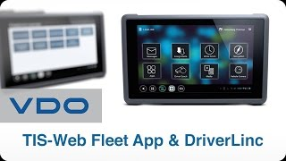 VDO Gestion de Flotte | TIS-Web® Fleet App & DriverLinc