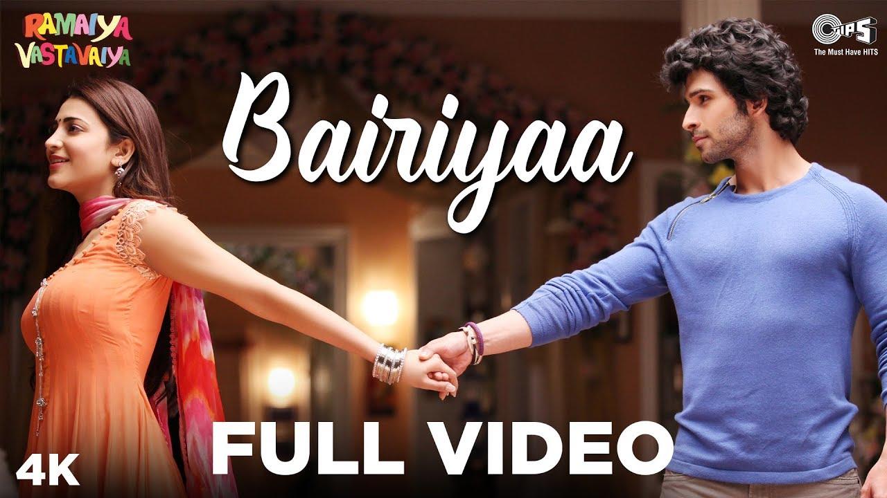 Download Bairiyaa Full Video- Ramaiya Vastavaiya | Girish Kumar & Shruti Haasan | Atif Aslam, Shreya Ghoshal