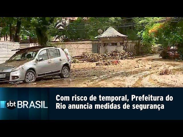 Risco de temporal leva Prefeitura do Rio a anunciar medidas de segurança | SBT Brasil (12/02/19)