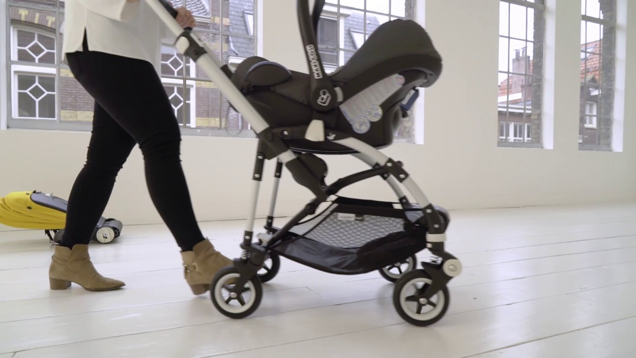 bugaboo bee5 car seat adaptability youtube. Black Bedroom Furniture Sets. Home Design Ideas