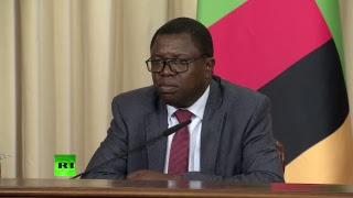Пресс-конференция Сергея Лаврова и министра иностранных дел Замбии