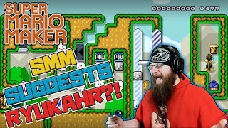 SMM SUGGESTS RYUKAHR?! - Super Mario Maker - Blue TV Games level as well!