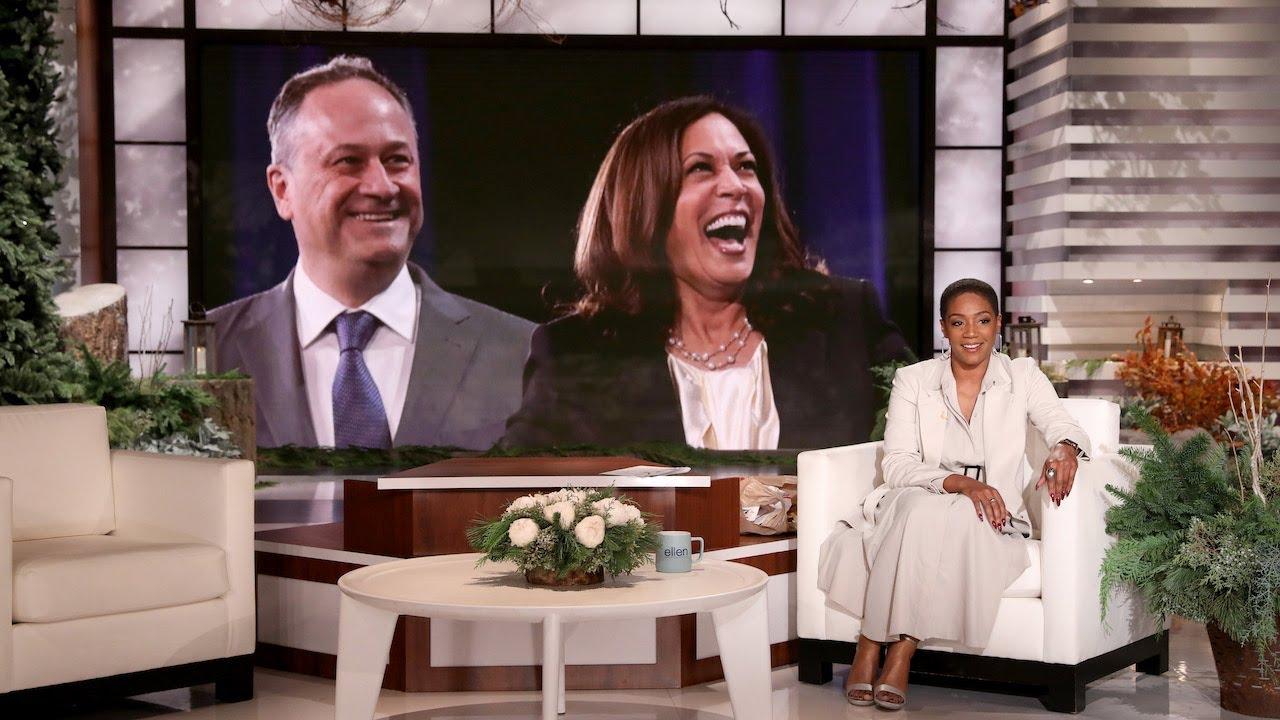 Tiffany Haddish Sends a Mazel Tov to Her Jewish Brother Doug Emhoff
