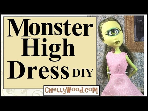 Free Doll Clothes Patterns : Monster High Dolls' Dress