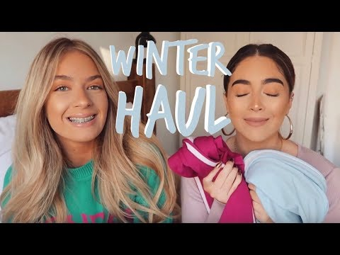WINTER HAUL! | SCARVES, HATS, COATS! | Sophia and Cinzia
