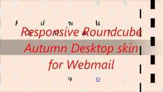 Responsive Roundcube Autumn Desktop skin for Webmail