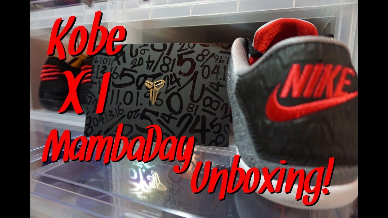 3a4cdadc794 UNBOXING  1  Nike Kobe 11 Mamba Day - YouTube