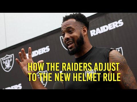 Oakland Raiders adjust to new helmet rule