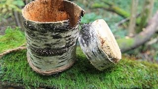 Simple Birch Bark container - Коробочка из бересты быстро)(, 2013-11-14T22:57:42.000Z)