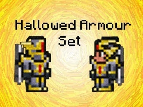 Terraria ios: HOW TO CRAFT HALLOWED AND DRAGON ARMOR!