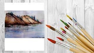 Как нарисовать горную реку и горы акварелью /art make(Всем привет, сегодня мы будем рисовать реку и горы акварелью Но вот видео на канале!!! Думаю тебе оно понрави..., 2017-01-13T13:00:04.000Z)