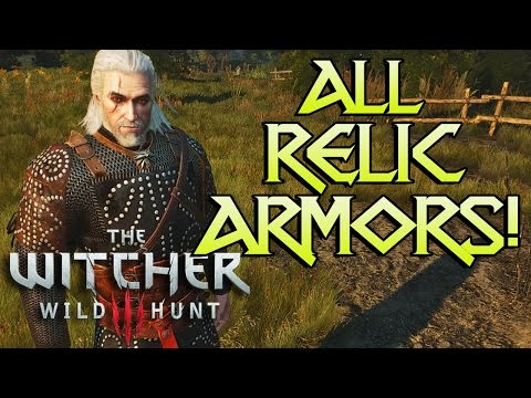ALL WITCHER 3 RELIC ARMORS! (& Other Sets)