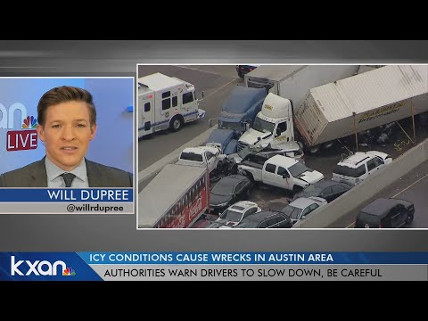 Freezing rain, wintry weather cause big wrecks on roads throughout Texas
