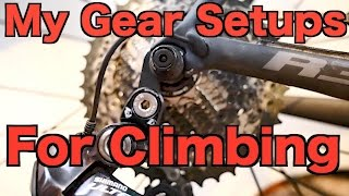 My Gear Setups For Climbing Steep Hills