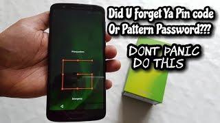 Moto G6 Remove pin Code /Pattern Lock/ Password Security/FingerPrint Lock/Face Recognition Lock
