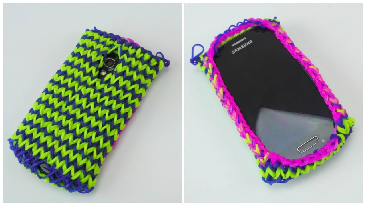 Handy Hülle Selber Loom Bands Handy Hülle Samsung S3 Mini / Rainbow Loom