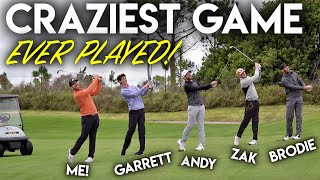 The CRAZIEST GAME Ever Played - Brodie Smith, GM__Golf, Zak Radford and Andrew Jensen!