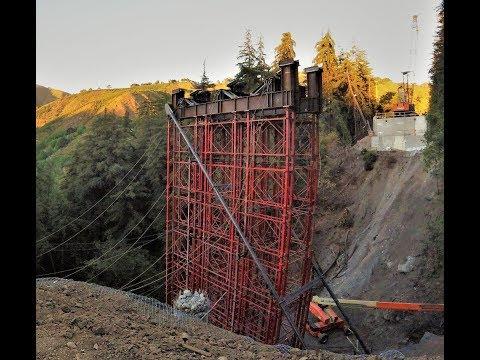 BROKEN BRIDGE hwy 1 BIG SUR CA (Pfeiffer Canyon Bridge)