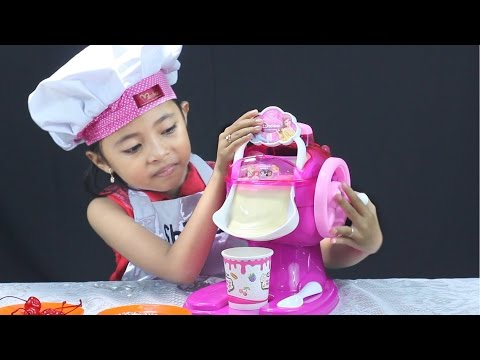 unboxing mainan anak ice cream maker - Make Your Own Ice Cream