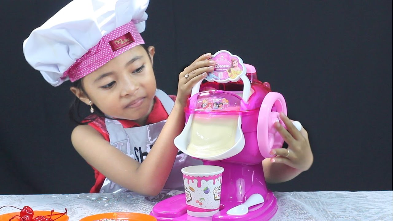 Unboxing Mainan Anak Ice Cream Maker Make Your Own Ice Cream Youtube