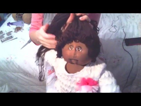 Tutorial reroot on Soft Sculpture Cabbage Patch Kids part2