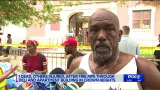 Woman, 79, dead and 3 critically injured in Crown Heights fire