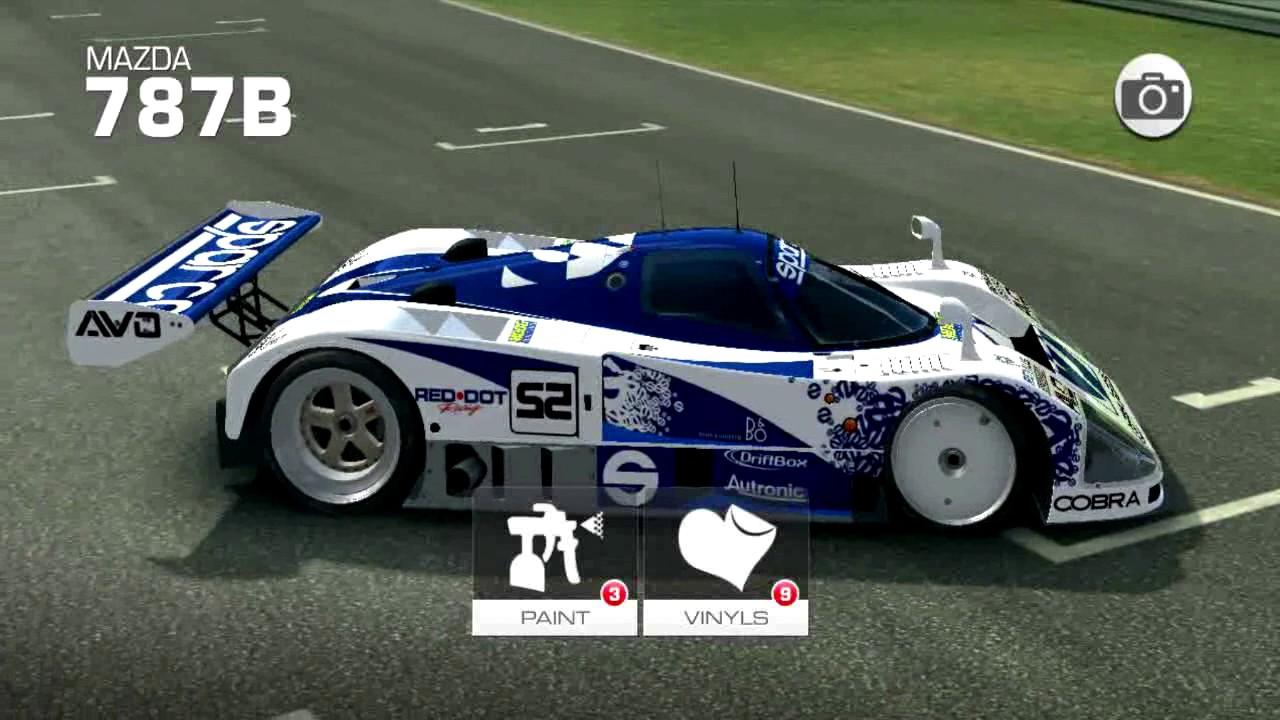 Real racing 3 1991 mazda 787b mod