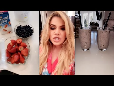 What I Eat On A Workout Day | Khloe Kardashian