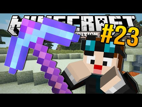Thumbnail: Minecraft Pocket Edition | ENCHANTED DIAMOND PICKAXE!! | #23
