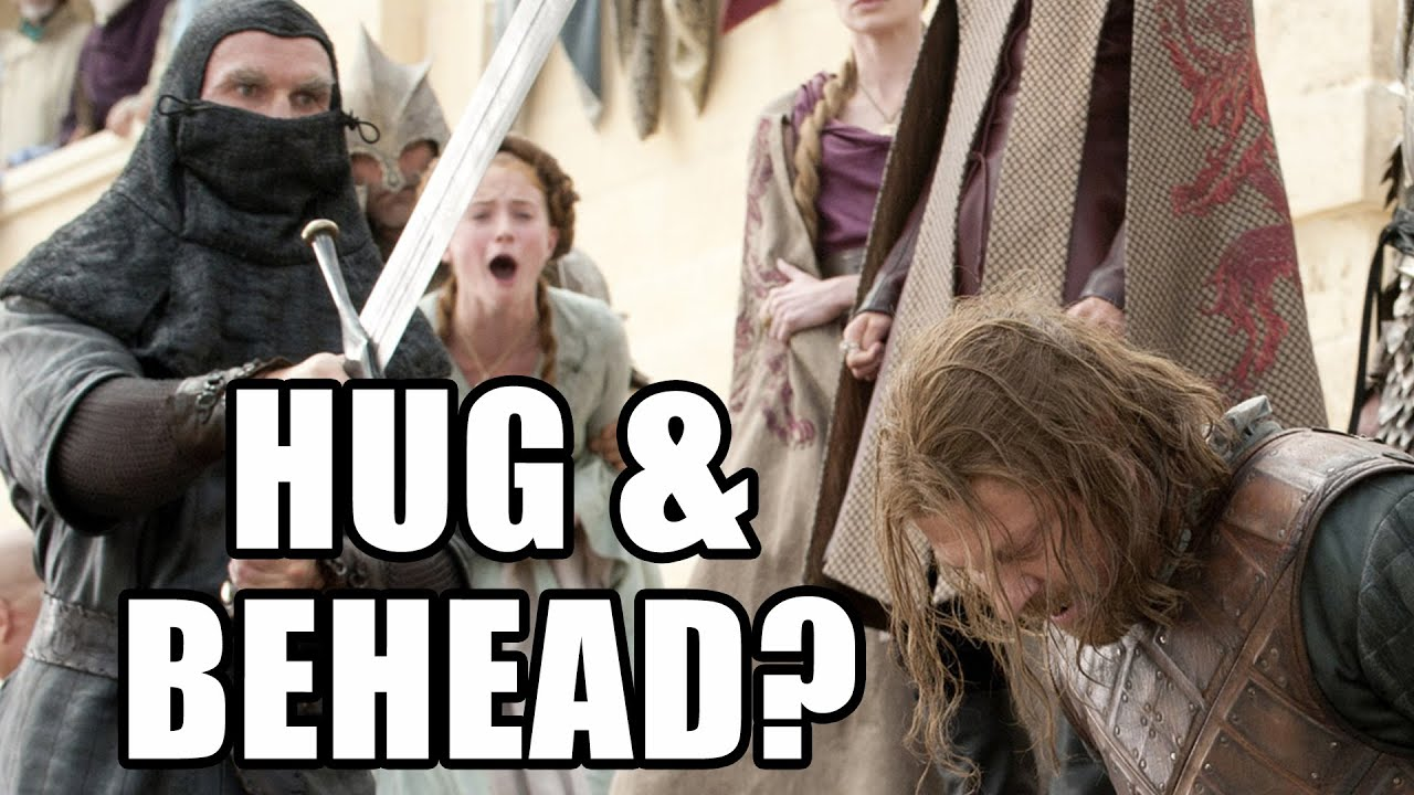 Game of Thrones Hug And Behead Maisie Williams Cast
