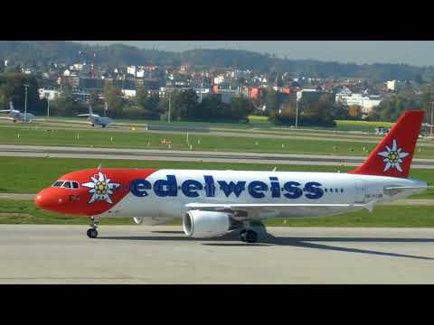 PLANESPOTTING at ZURICH AIRPORT Observation deck B (Prt3)