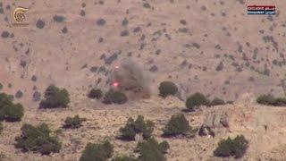 مشاهد خاصة بالميادين لاستهداف المقاومة مواقع المسلحين في جرود رأس المعرة
