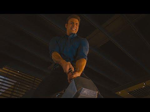 Мстители пытаются поднять молот Тора. Мстители: Эра Альтрона. 2015