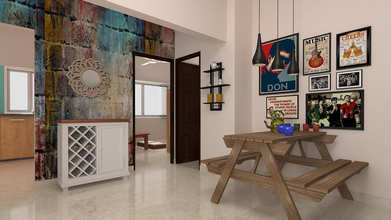 Furdo Home Interior Design Themes Graffiti Art 3D Walk through