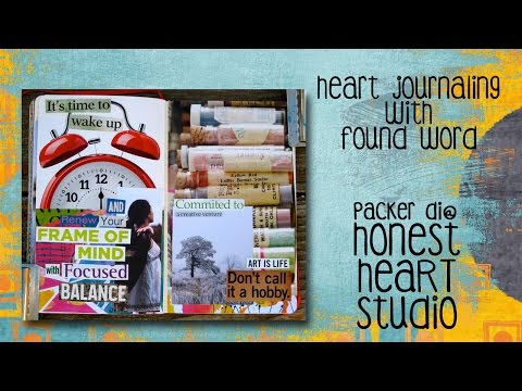 Heart Journaling with Found Word - Art Is Life